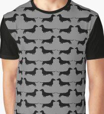 Dachshund Silhouette(s) Graphic T-Shirt