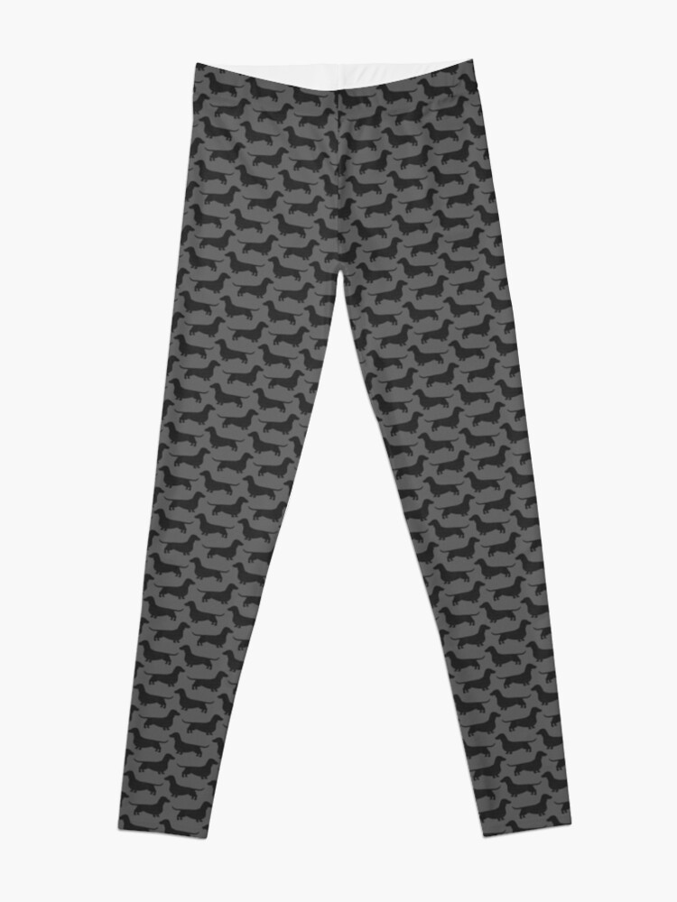 Alternate view of Dachshund Dog Silhouette(s) Leggings