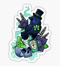 Chubby Mr. Raven Sticker