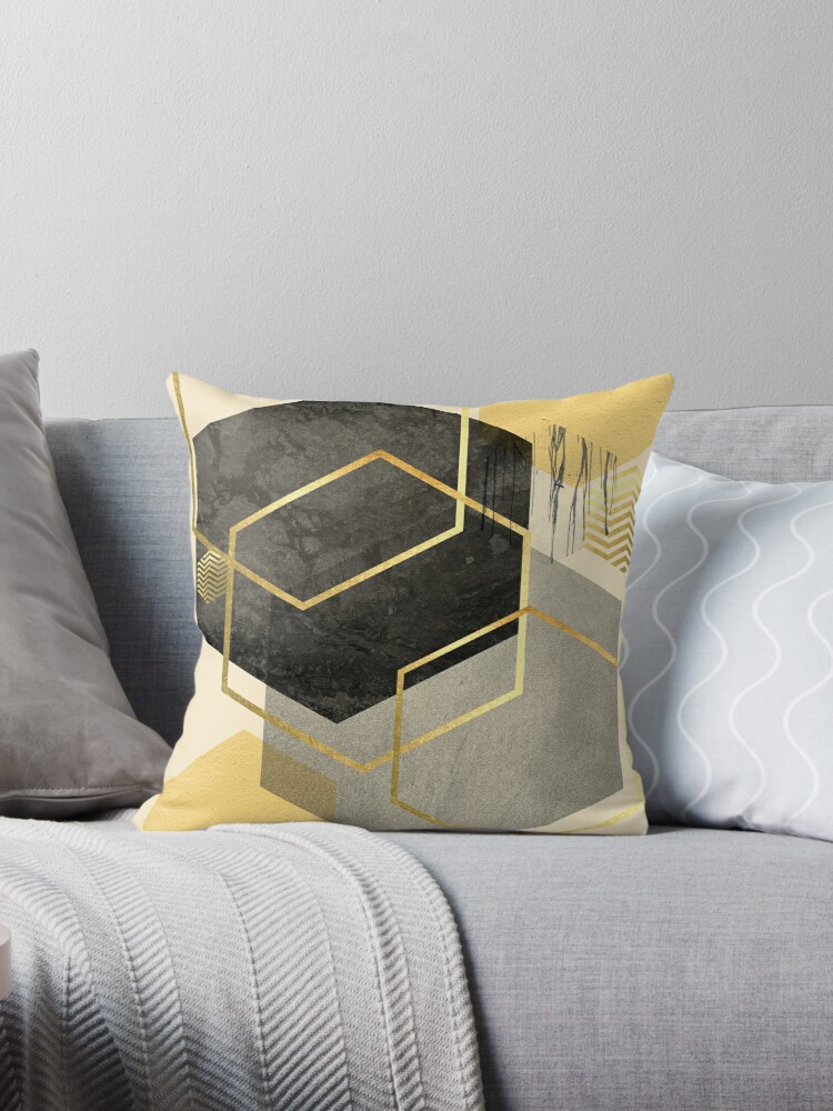 Black and Gold Geometric by UrbanEpiphany