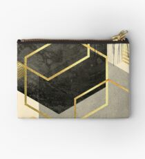 Black and Gold Geometric Studio Pouch