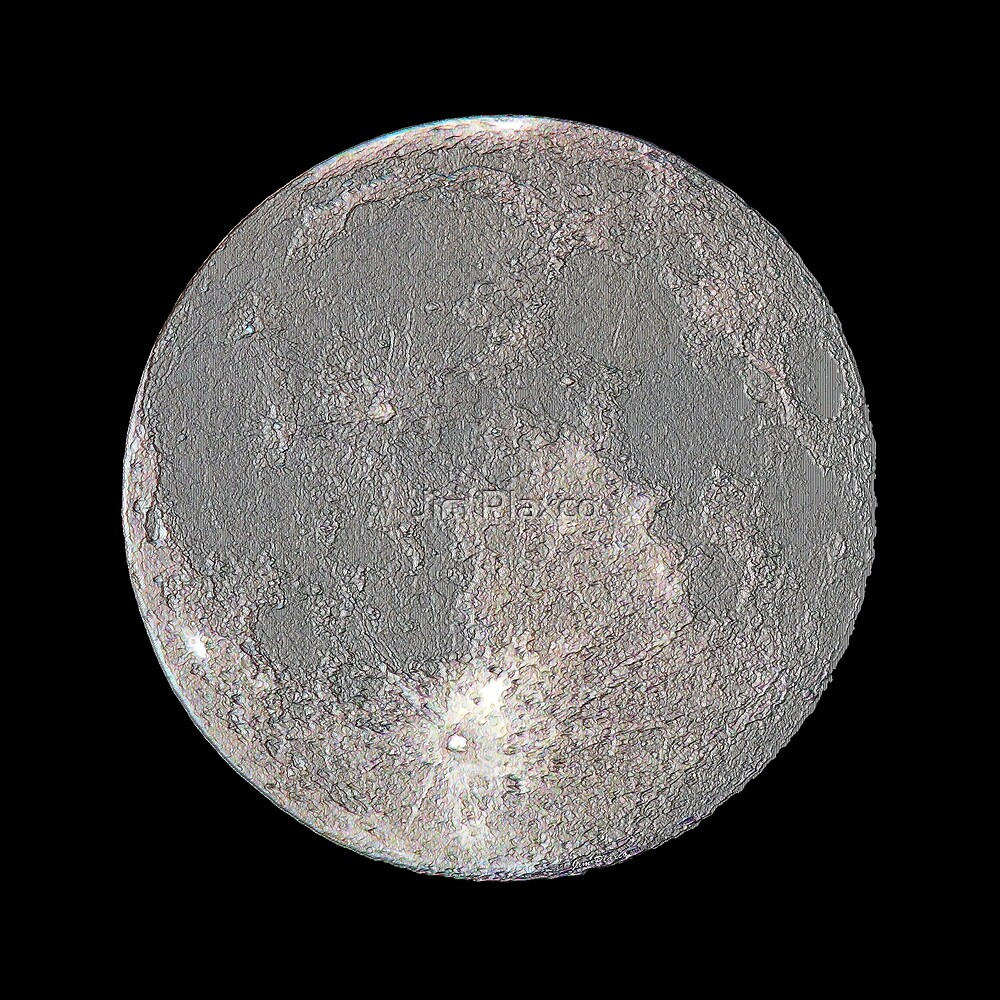 Linear Moon - Lunar Representation by Jim Plaxco