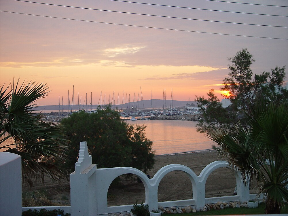 Sunset in Naousa, Paros- Greece by Anastasia Karatsivi
