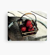 Apple Basket Canvas Print