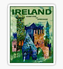 IRELAND : Vintage Travel Advertising Print Sticker