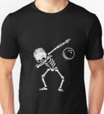 Dabbing Skeleton Bowling Ball Halloween Gift Unisex T-Shirt