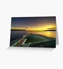Plymouth Lido Sunset  Greeting Card