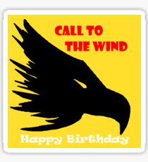 Happy Birthday Call To The Wind Black Eagle Sticker