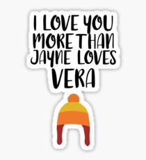 More than Jayne Loves Vera Sticker