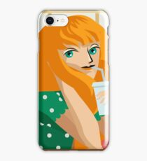 beautiful girl eating fast food and soda iPhone Case/Skin