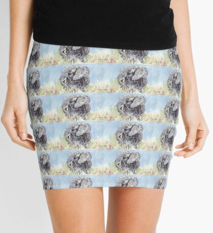 'Time to Retreat' - The Painting Mini Skirt