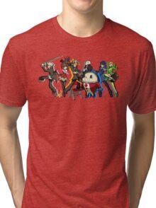 Persona 4 TWEWY style Tri-blend T-Shirt