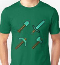 Minecraft Diamond Tools Unisex T-Shirt