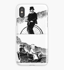 Bike and Car Pool Pen and Ink by Alice Flynn iPhone Case/Skin