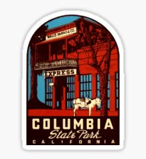 Columbia State Park California Vintage Travel Decal Sticker