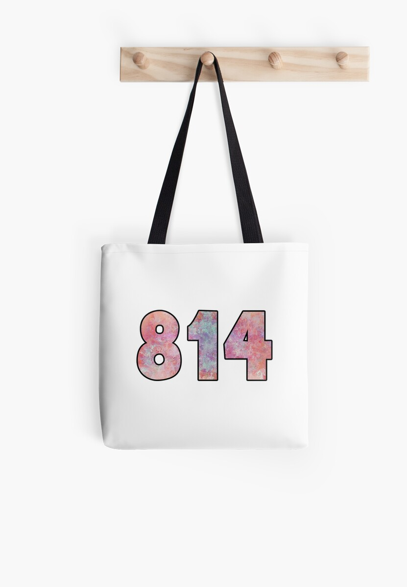 Area Code Pennsylvania State College Erie PA Tote Bags By - 814 area code