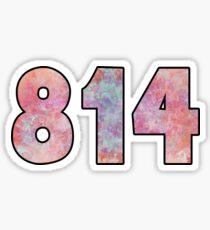 814 Area Code Pennsylvania State College Erie PA Sticker