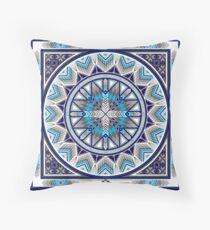 Sacred Places Blue  Floor Pillow