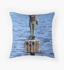 Great morning for a swim Throw Pillow