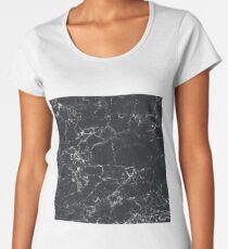 Camiseta premium de cuello ancho Granito oscuro