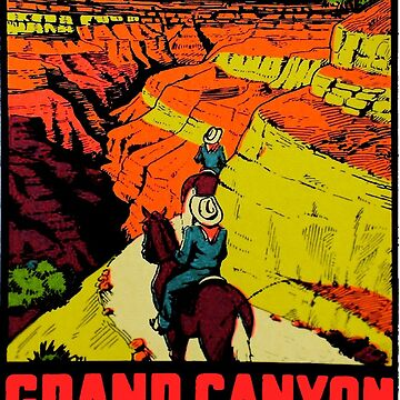 Grand Canyon National Park Arizona Vintage Travel Decal 2 by hilda74
