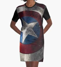The Shield Of Justice Graphic T-Shirt Dress