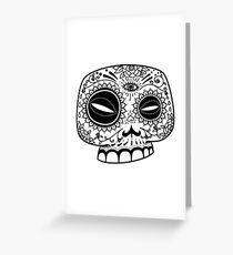 Sugar Skull Staring into the Sun Greeting Card