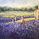At the lavender farm by Ivana Pinaffo