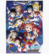 Happy Party Train Aqours Poster Poster