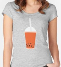 BUBBLE TEA THAI TEA Women's Fitted Scoop T-Shirt
