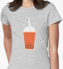 BUBBLE TEA THAI TEA Women's Fitted T-Shirt