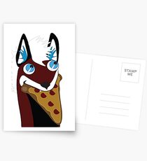 Puppet Space Needs Pizza!  Postcards