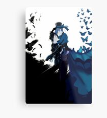 The crow & The butterfly Metal Print
