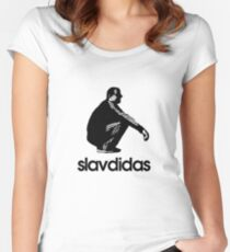 Slavdidas - Slav Adidas Women's Fitted Scoop T-Shirt