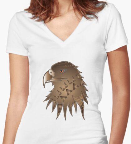 Eagle Nation Women's Fitted V-Neck T-Shirt
