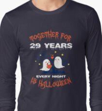 Halloween Shirt For Wife/Husband On 29th Anniversary. Long Sleeve T-Shirt