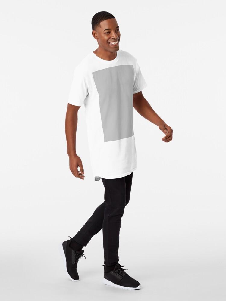 Alternate view of Beautiful Cushions/ Plain Silver Long T-Shirt