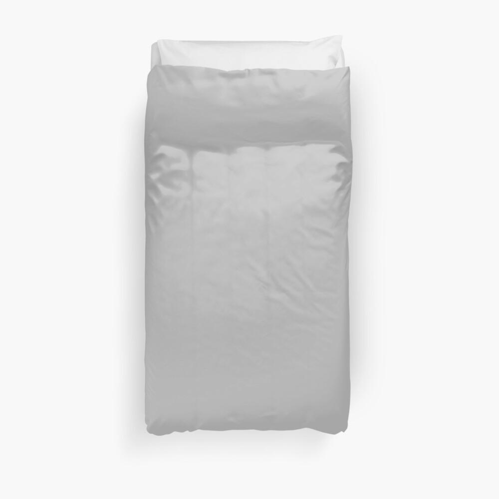Beautiful Cushions/ Plain Silver Duvet Cover