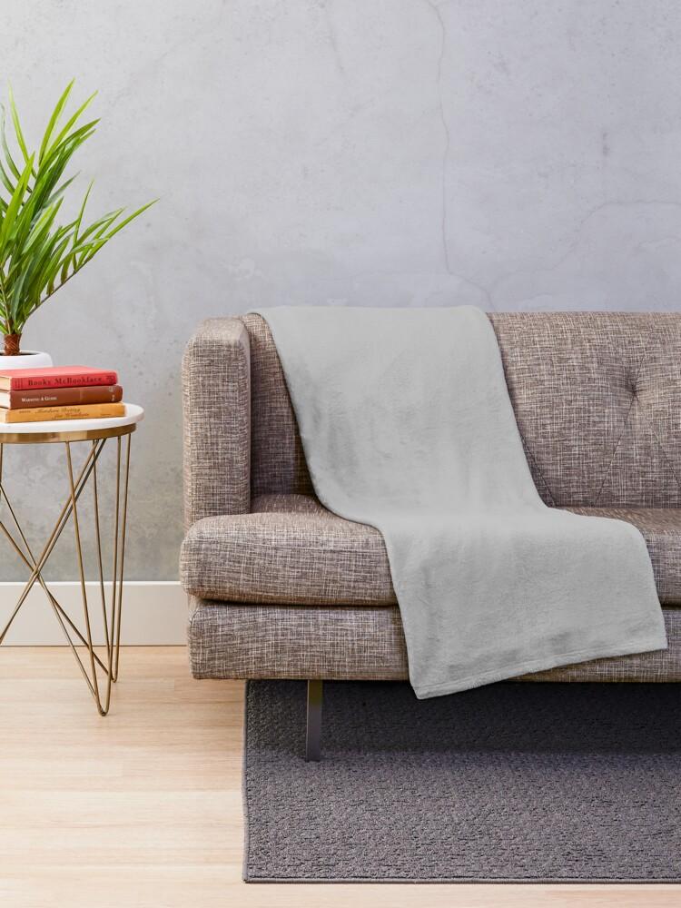 Alternate view of Beautiful Cushions/ Plain Silver Throw Blanket