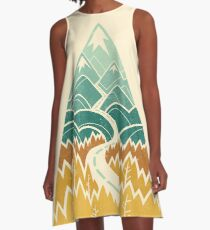 The Road Goes Ever On: Autumn A-Line Dress