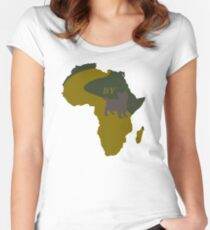 Africa by Toto- Pun Art Women's Fitted Scoop T-Shirt