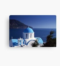 Blue dome chapel  Canvas Print