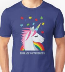 Embrace Differences Autism Unicorn T-Shirt