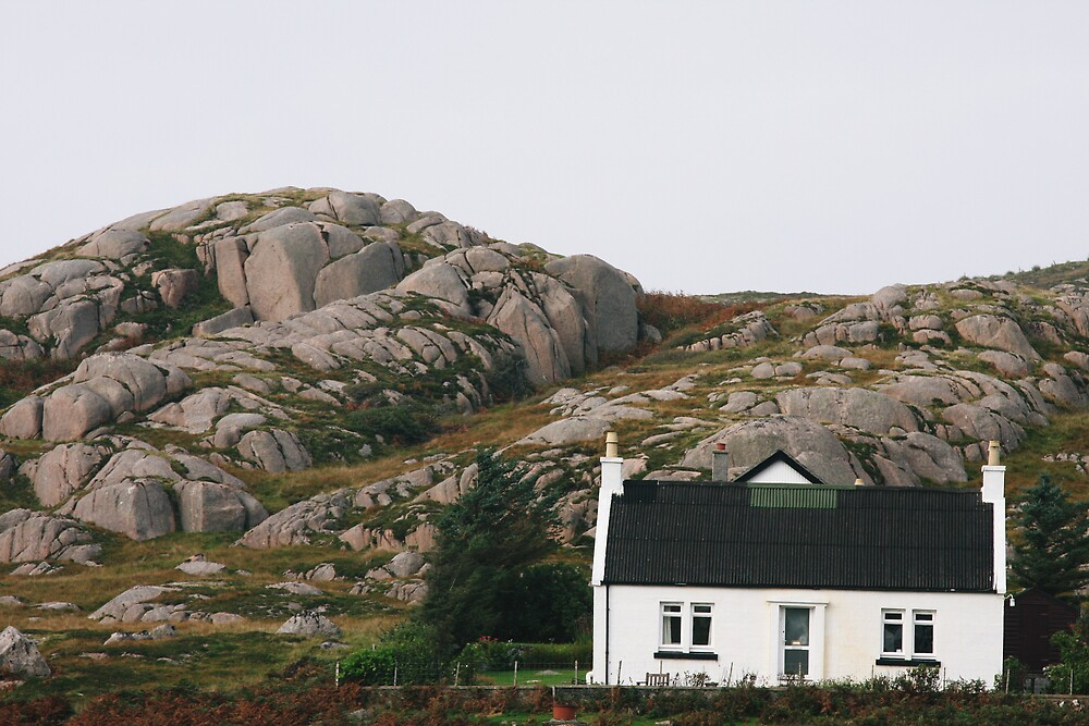 The house and the rock by Jeff  Wilson
