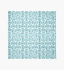 Turquoise watercolor geometric pattern with circles Scarf