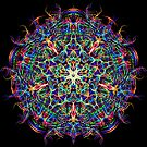 Energy Mandala of 4D Hyperspace Visuals - Psychedelic Sacred Geometry Meditation Focus  by Leah McNeir