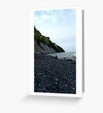 Wildly romantic chalk coast Rügen Greeting Card