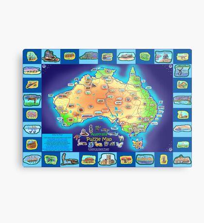 Australia Map board game Metal Print