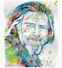 ALAN WATTS - watercolor portrait Poster