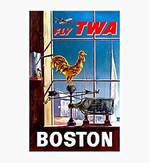 Vintage Boston Travel Poster Photographic Print